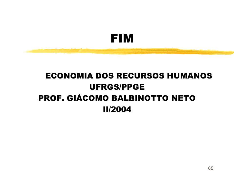 ECONOMIA DOS RECURSOS HUMANOS [PPGE/UFRGS]